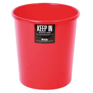KEEP IN LITTER BIN 20.5X22CENTIMETERS 5 LITRES - RED
