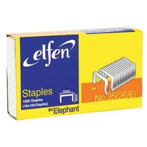 ELFEN ลวดเย็บกระดาษ 35-1M (26/6) 1000 ลวด/กล่อง