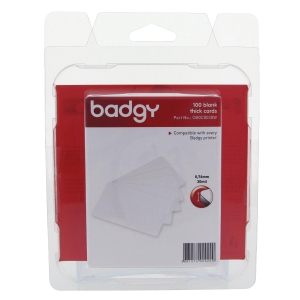 BADGY PRINTABLE BADGE 0.76MM 53.98X85.60MM - PACK OF 100