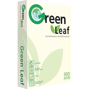 GREEN LEAF COPY PAPER A4 80G - WHITE - REAM OF 500 SHEETS