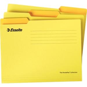 ESSELTE แฟ้มแขวน A4240x315 มิลลิเมตร สีเหลือง แพ็ค 10เล่ม