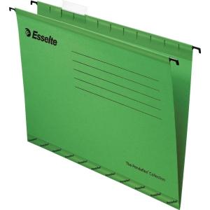 ESSELTE แฟ้มแขวน A4240x315 มิลลิเมตร สีเขียว แพ็ค 10เล่ม