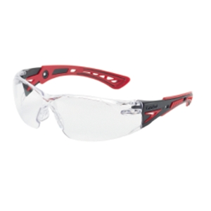 BOLLE RUSH PLUS SAFETY GLASSES ANTI-SCRATCH ANTI-FOG CLEAR