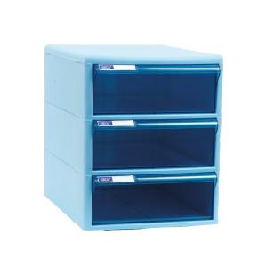 ORCA TCB-3BB CABINET DRAWER 3 LEVELS BLUE/BLUE