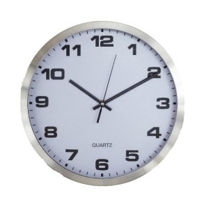 3490 WALL CLOCK 12 INCHES WHITE