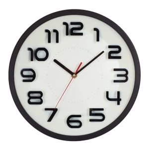 544 WALL CLOCK 12 INCHES WHITE