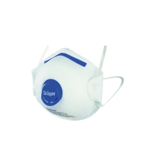 DRAGER X-PLORE 1350 N95V DISPOSABLE VALVED PARTICULATE RESPIRATOR WHITE PK 10