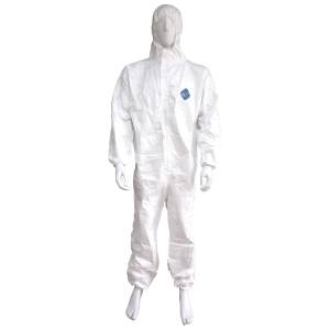 DUPONT ชุดป้องกันสารเคมี TYVEX1422A S ขาว