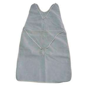 APRON LEATHER MATERIAL GREY
