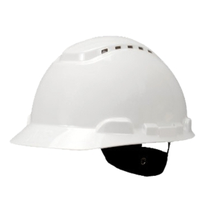 3M H-701V SAFETY HELMET VENTED TURN STRAP HDPE WHITE