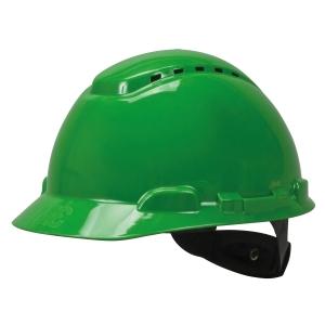 3M H-704V SAFETY HELMET VENTED TURN STRAP HDPE GREEN