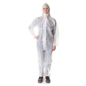 3M 4500 COVERALL CHEMICAL PROTECTION MEDIUM WHITE