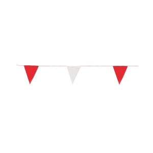 ธงราวจราจร FLAG-20 20 เมตร ขาว/แดง