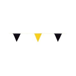 ธงราวจราจร FLAG-20YB 20 เมตร ดำ/เหลือง