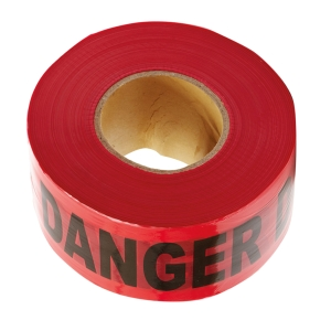 DANGER TAPE 3 INCHES X 500 METRES RED