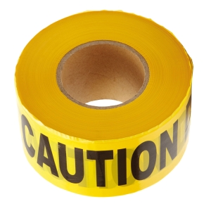 CAUTION TAPE 3 INCHES X 500 METRES YELLOW