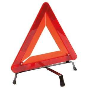 SECURITY TRIANGLE REFLECTIVE SIGN RED