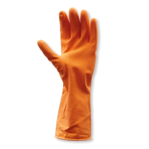 PARAGON AMS-3861D111-202 GLOVES LATEX PAIR MEDIUM ORANGE