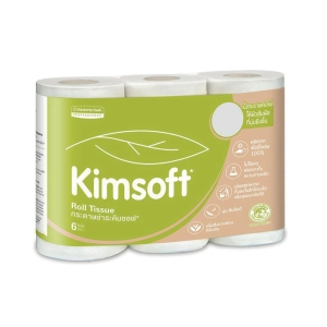 KIMSOFT TOILET PAPER ROLLS 17.6 METRES - PACK OF 6