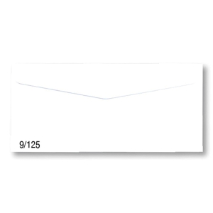 NUMBER 9/125 ENVELOPE W/WINDOW 100GRAM SIZE 4.1/4 X9.1/4  WHITE - PACK OF 500