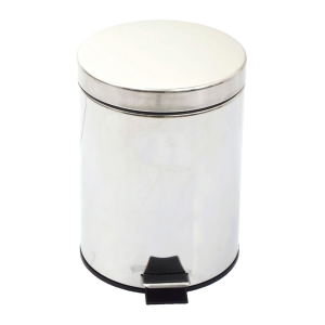 ORCA P002 STAINLESS WASTE BIN WITH LID 12 LITRES