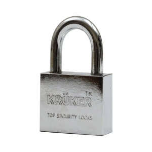 KRUKER PADLOCK CHROMIUM SHORT LOOP 50MM