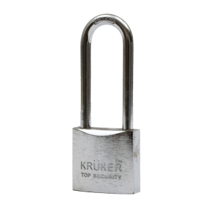 KRUKER SPRING PADLOCK CHROMIUM LONG LOOP 38MM