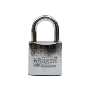 KRUKER SPRING PADLOCK CHROMIUM SHORT LOOP 38MM