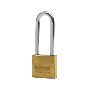 KRUKER SPRING PADLOCK GOLD LONG LOOP 32MM