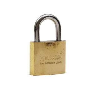 KRUKER SPRING PADLOCK GOLD SHORT LOOP 32MM