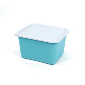 1556 PLASTIC STORAGE BOX 15 LITRES 31.5x36x21.5 CM. ASSORTED OPAQUE COLOURS