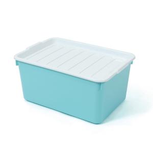 2056 PLASTIC STORAGE BOX 20 LITRES 31.5x45.5x22 CM. ASSORTED OPAQUE COLOURS