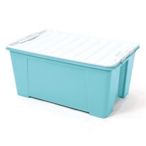 2556-1 PLASTIC STORAGE BOX 49 LITRES 39x55x33 CM. ASSORTED OPAQUE COLOURS