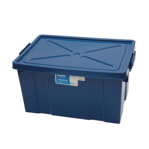 PLASTIC STORAGE BOX 80L 47X66X34 CM. ASSORTED COLORS