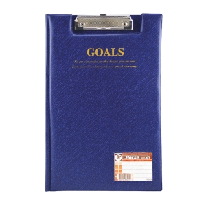 HORSE H-035 PLASTIC COVERED CLIPBOARD FOLDER BLUE