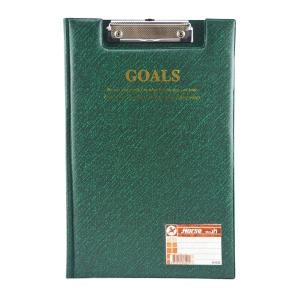HORSE H-035 PLASTIC COVERED CLIPBOARD FOLDER GREEN