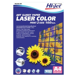 HI-JET COLOR LASER ART PHOTO PAPER A4 160G - PACK OF 100