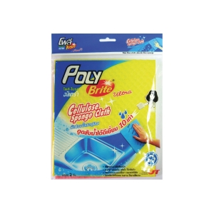 POLY-BRITE CELLULOSE SPONGE CLOTH 18X20CM - PACK OF 2