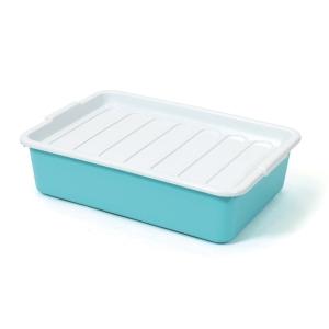 กล่องพลาสติกอเนกประสงค์ 1256 12 ลิตร 31.5x45.5x12 ซม. คละสี สีทึบ