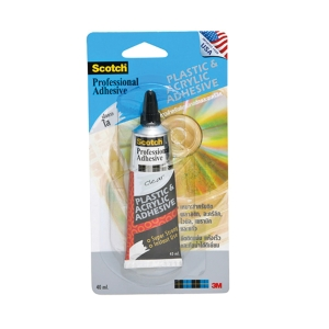 SCOTCH PLASTIC AND ACRYLIC ADHESIVE CLEAR 40ML