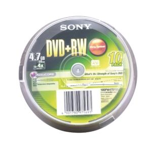 SONY แผ่น DVD+RW 120 นาที 4.7 GB 16X บรรจุ 10 แผ่น