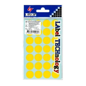 LATECH C-301 LABELS DIA 19MM YELLOW PACK OF 576