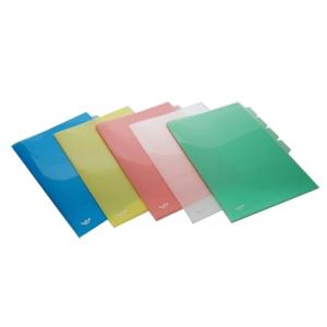 INTOP แฟ้มซองพลาสติก 652F 3 ช่อง F 200 ไมครอน คละสี
