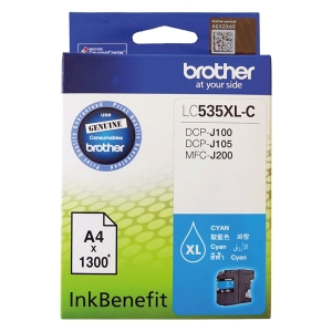 BROTHER LC-535XLC ORIGINAL INKJET CARTRIDGE CYAN