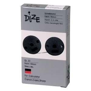 DIZE GR-51 CALCULATOR RIBBON PACK 12