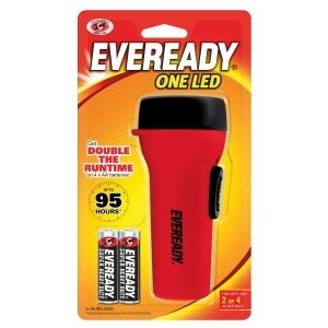 EVEREADY ONE LED- GPCH41 + 1215 TORCH RED