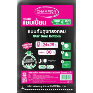 CHAMPION WASTE BAG STAR SEALED 24X28 INCHES PACK OF 30