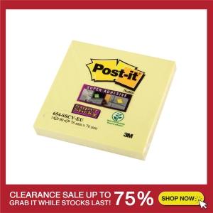 POST-IT ซูเปอร์สติกกี้โน้ต 654-12SSCY 3  X 3  สีเหลือง บรรจุ 90 แผ่น/เล่ม