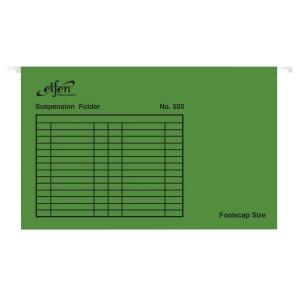 ELFEN แฟ้มแขวน 505 F 240x364 มิลลิเมตร สีเขียว แพ็ค 10 เล่ม