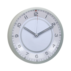 3111 WALL CLOCK QUIET SWEEP 14 INCHES WHITE